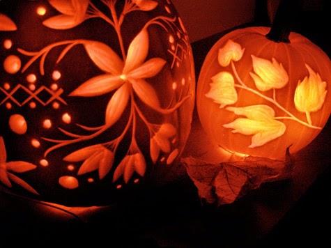 MuyVariadocom Como Tallar Calabazas para Halloween Diseo de Flores