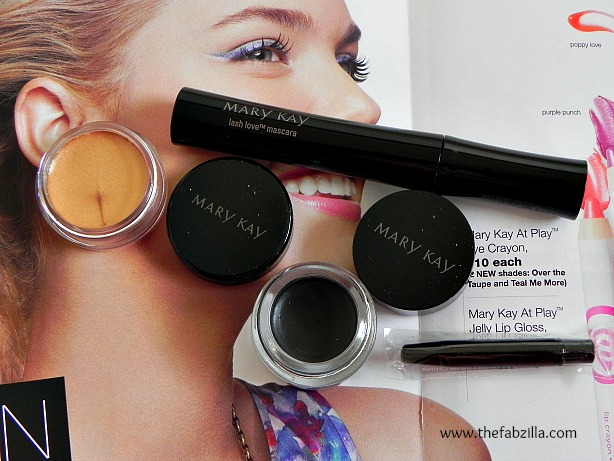 review, mary kay mascara, eye cream shadow, gel eyeliner, swatch