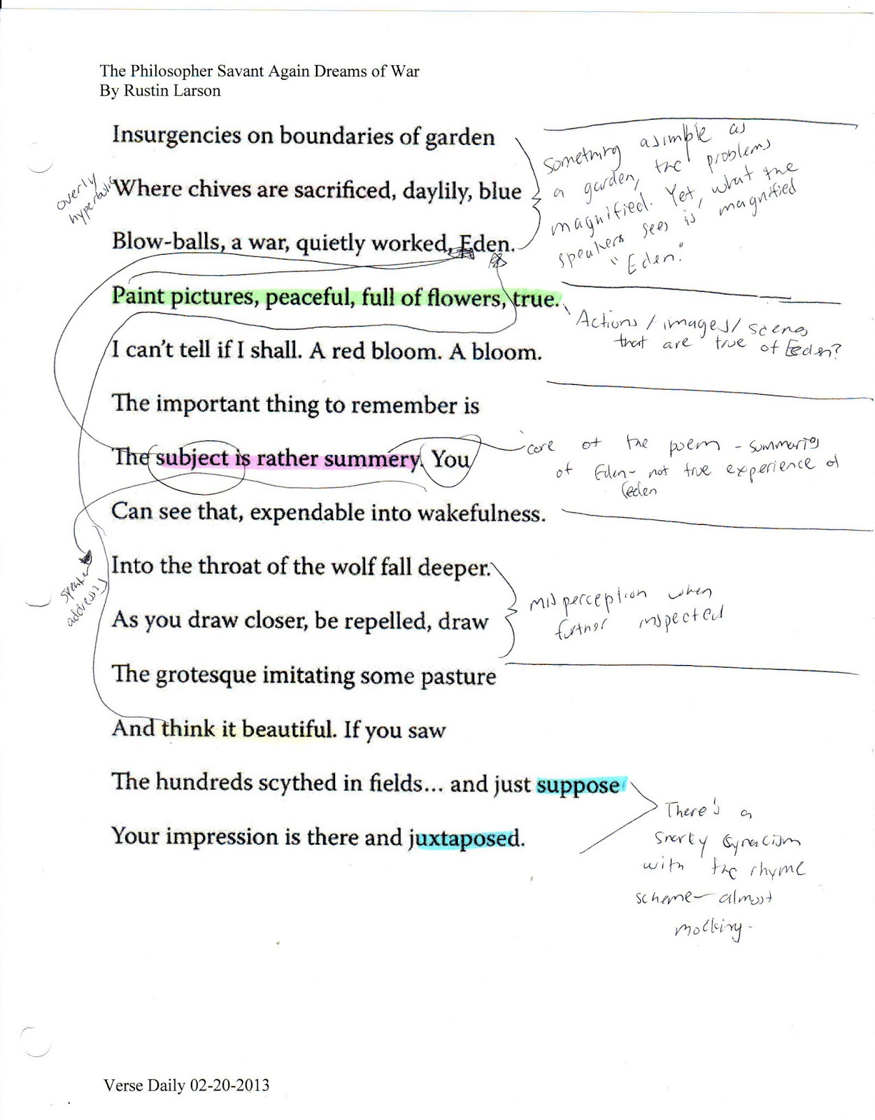 shakespeare sonnet 3 summary