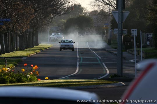 Smoky ol' car in Havvers photograph