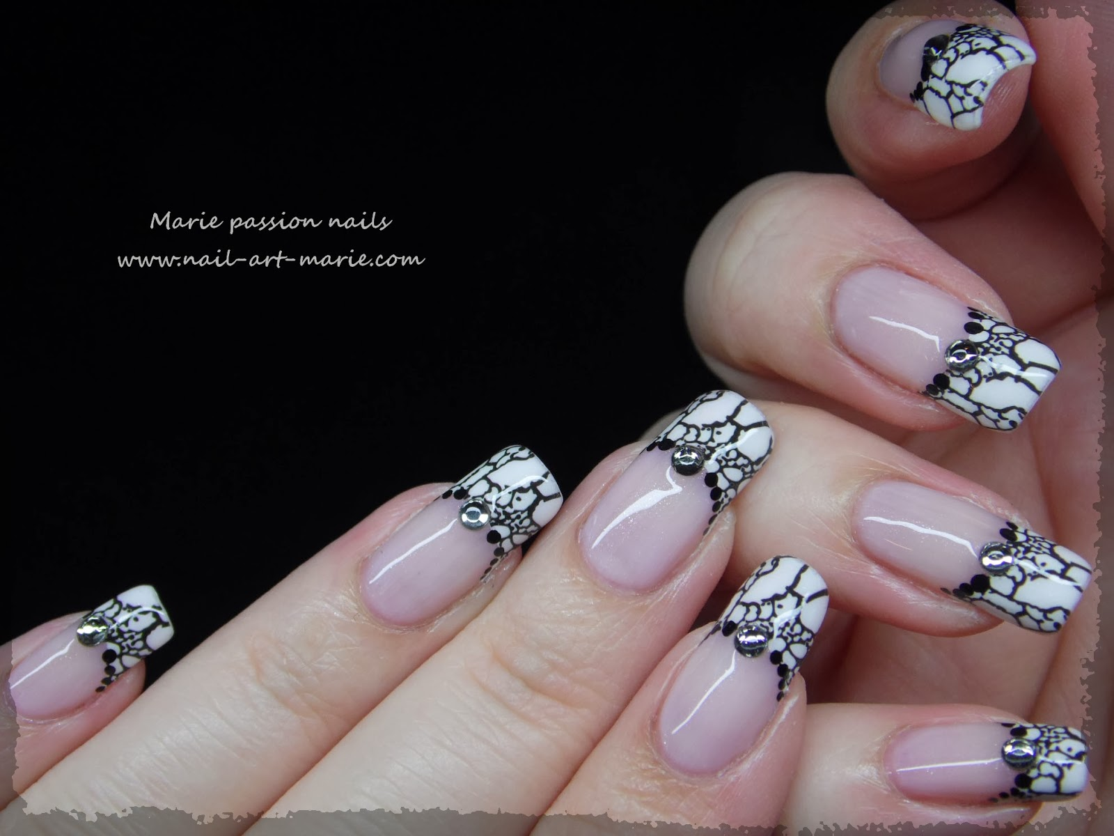Nail art French effet faux ongles2