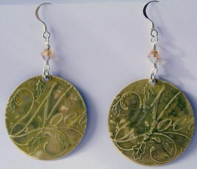Noel: brass, sterling silver, Swarovski crystal, etching, OOAK earrings :: All Pretty Things