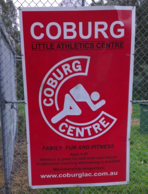 Coburg Harriers Entry Sign