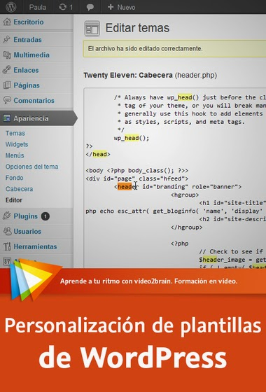 Personalización de plantillas de WordPress [Video2Brain] [MEGA ...