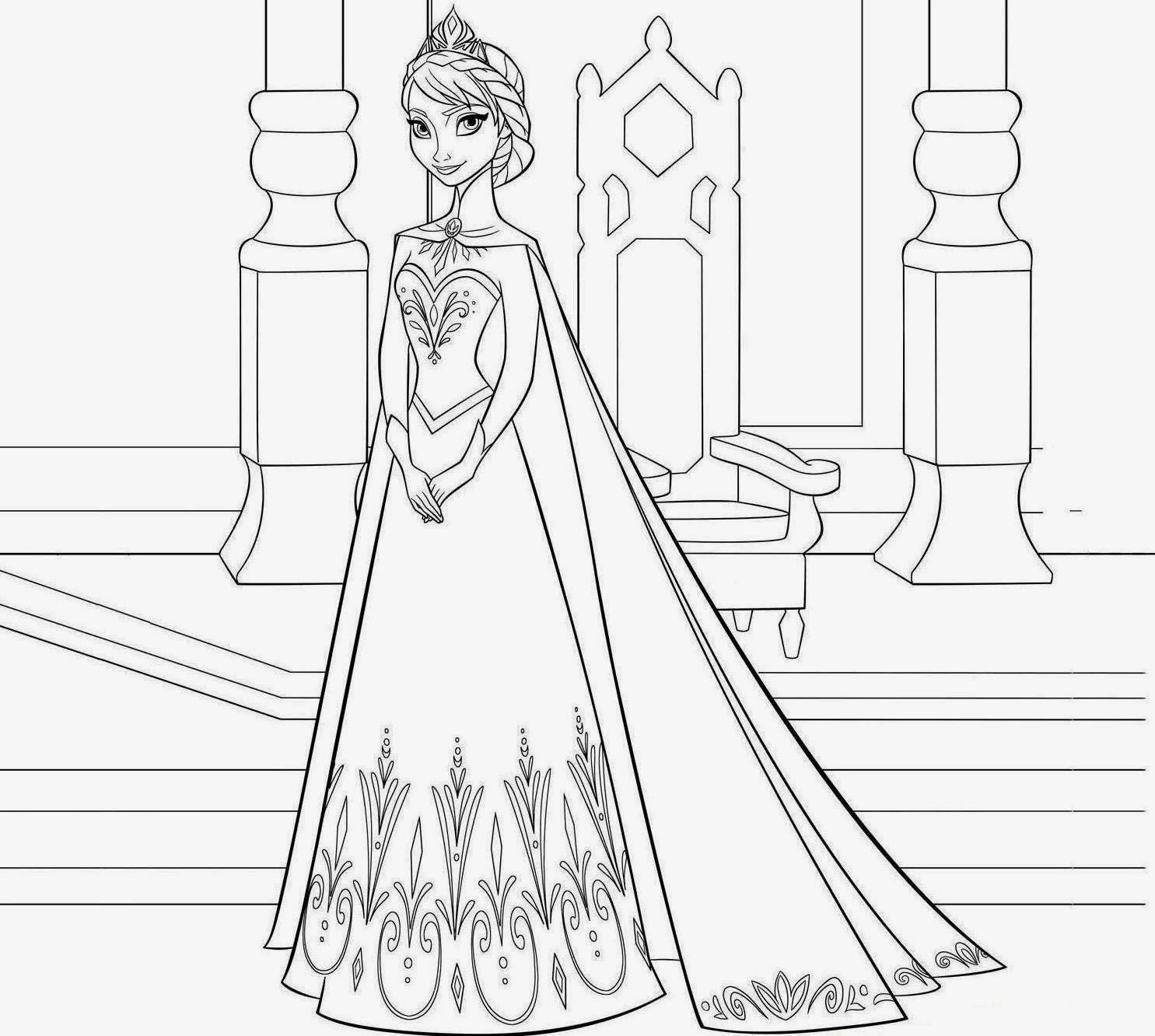 Free Coloring Pages Of Frozen Anna Words