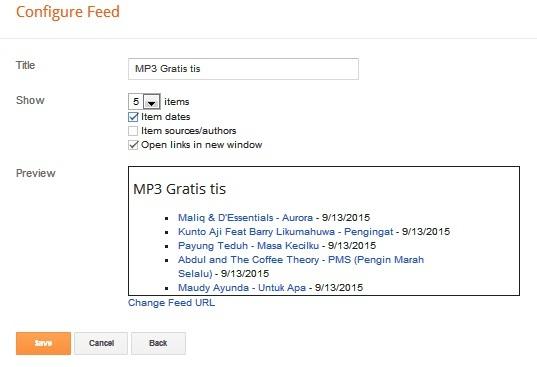 Memasang Widget Langganan RSS pada Blog