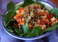 Lentilha e Espinafre com Especiarias (vegana)