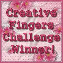 Winner at Creative Fingers Challenge Blog