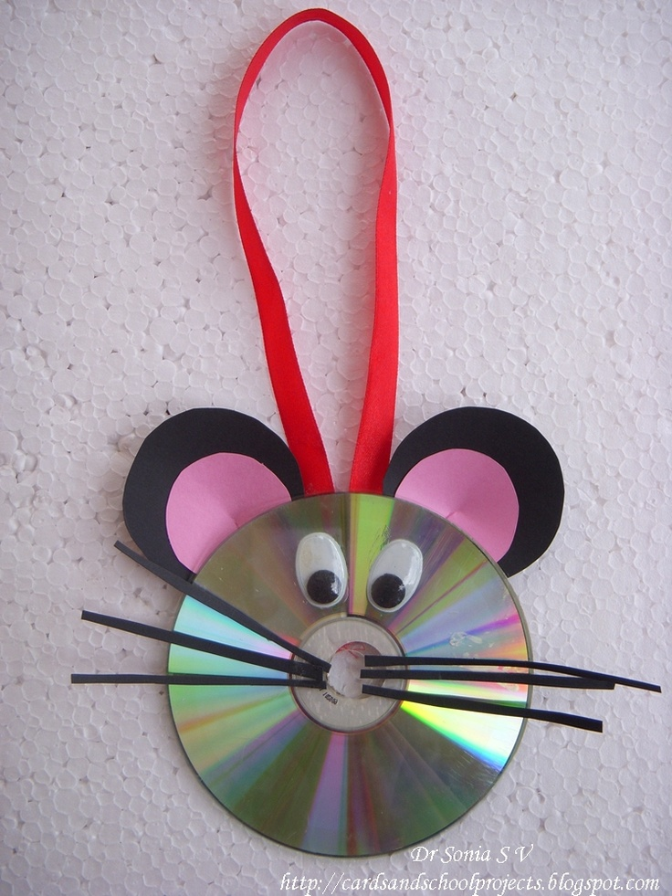 Ideas for early childhood old cds for preschool crafts for Wall hanging best out of waste
