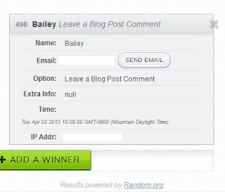 Winner of the GTW Giveaway
