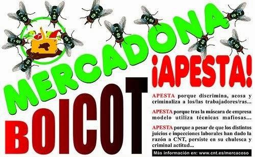 MERCADONA PREOCUPADA POSIBLE IMPLICACIÓN EN LAS MUERTES EN ALCALA DE GUADAIRA,  https://www.facebook.com/pages/Anarquistas/378066755607147  Mercadona está preocupada por las 3 muertes de la familia Caño por una intoxicación de origen desconocido que los laboratorios están intentando descubrir.  La preocupación de Mercadona viene dada por su impía y abominable gestión de lo que se tira y cómo se desarrolla este proceso.  Todos sabemos que de la ingente cantidad de lo que se tira, aproximadamente un 1,20% de lo facturado en la cadena.  Existen pautas de cómo deshacerse de todo esto, muchas veces se abren los productos para que queden inutilizados y en muchas ocasiones se rocía con productos de la droguería que ya no se van a vender por estar deteriorados como amoniaco, lejía, friegasuelos e incluso salfuman, y así ningún pobre o gente que rebusca en los contenedores pueda utilizarlo. También muchas veces se tienen los horarios del camión de la basura para sacarlo cuando venga y que nadie se aproveche de ello. Los trabajadores de Mercadona lo sabemos, pero son órdenes de arriba, y las cumplimos, pese a que estas prácticas se han denunciado en varias ocasiones.  Esta insolidaria acción y falta de empatía con los más necesitados, repetidas todos los días en muchos centros de Mercadona, no está exenta de riesgos. Pero a esta secta-empresa le da igual. El riesgo evidente es la posible intoxicación de personas por la avaricia y la ambición de no dejar ni las migajas para los más necesitados, que se ven obligados a rebuscar en los contenedores. La secta, y su propio presidente los tacha de vagos y aprovechados y de Mercadona no se aprovecharan. (Esto se lo he escuchado yo personalmente al presidente)  Dada esta situación,  por cuestiones que no vienen al caso, he podido leer un informe interno muy confidencial y de manera muy rápida para no ser descubierta, en el que se informa de una reunión en Sevilla, con el Coordinador de la zona 35, la Relaciones externas de la zona,  y