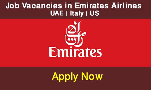 job in Emirates Airlines UAE |Italy| US