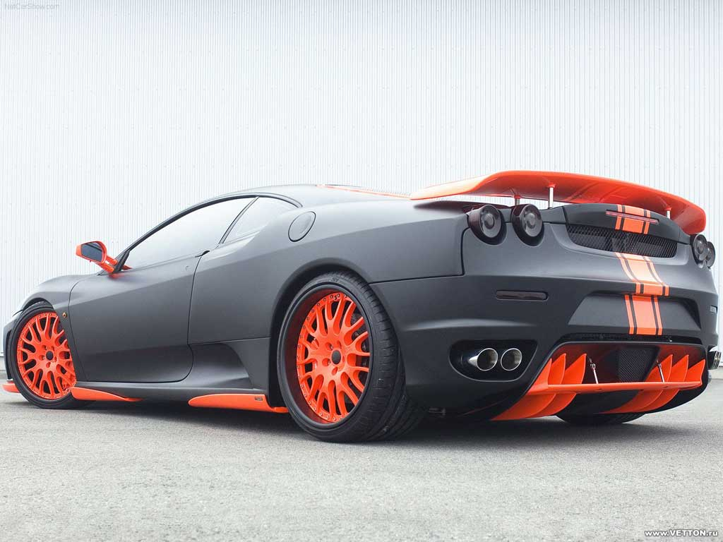 Orange and Black Car
