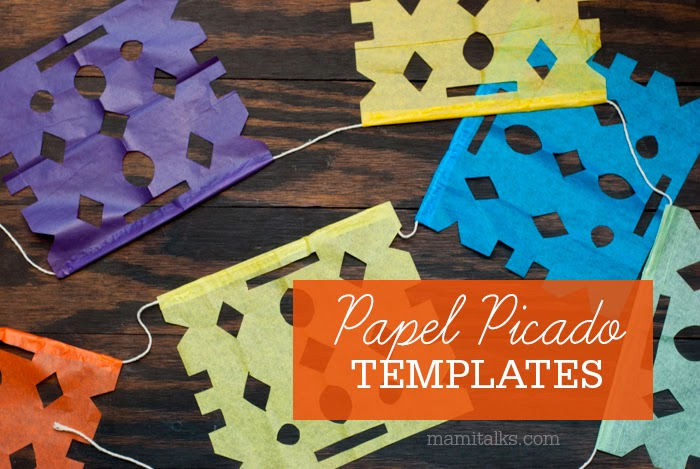 Mami talks papel picado templates for Papel picado template for kids