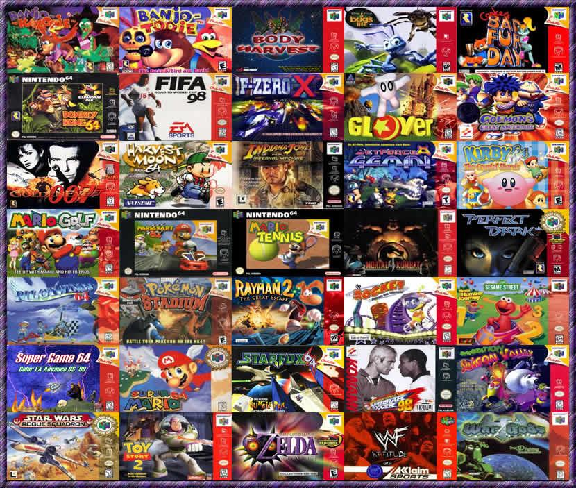 venta de juegos de nintendo 64: