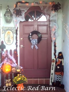 Halloween Front Entry, Halloween wreath