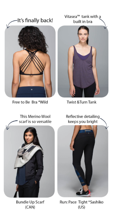 lululemon britt's picks oct 9