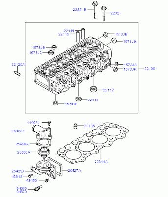 Схема ГБЦ Головка Блока Цилиндров