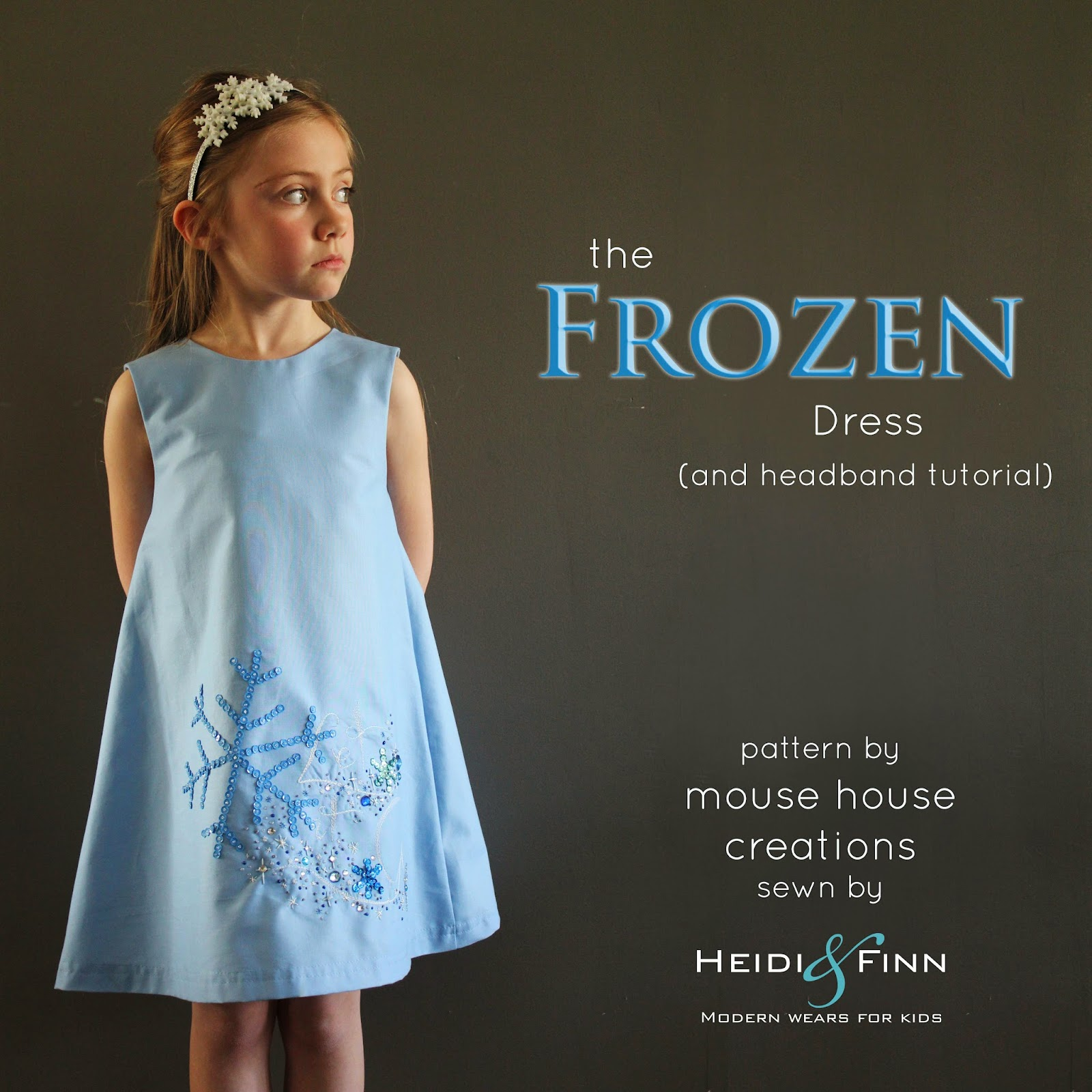 Let it go frozen inspired dress a mouse house creation pattern