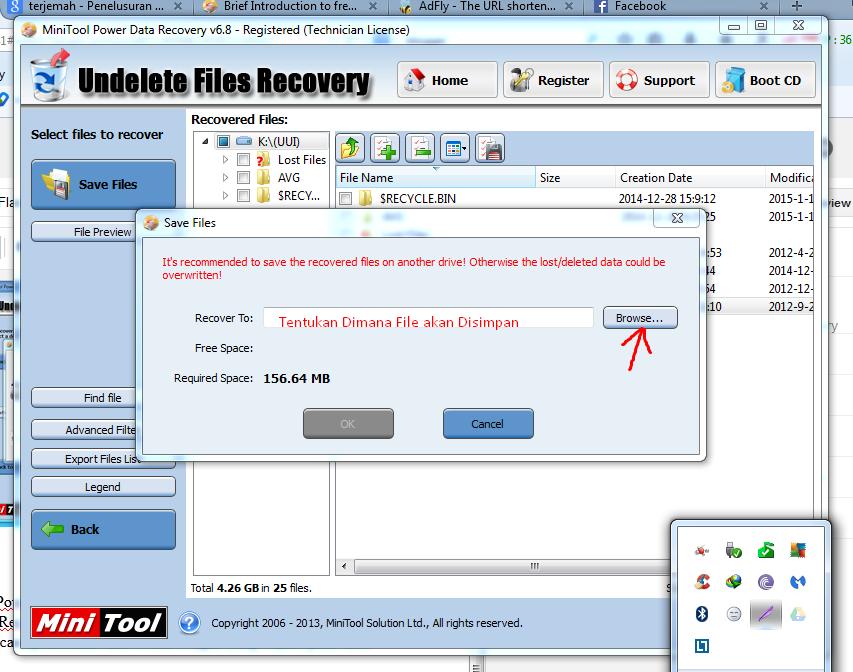 Menentukan lokasi penyimpanan file oleh MiniTool Power Data Recovery 6.8