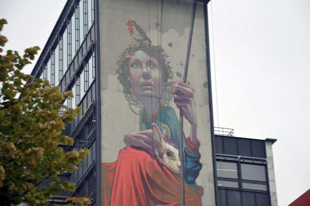 Street Art By Polish Muralist Sainer From Etam Cru In Paris, France. 2