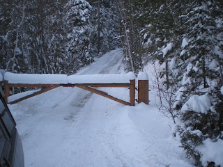 snowfall, december 2013, Ely area, Minnesota, huisman
