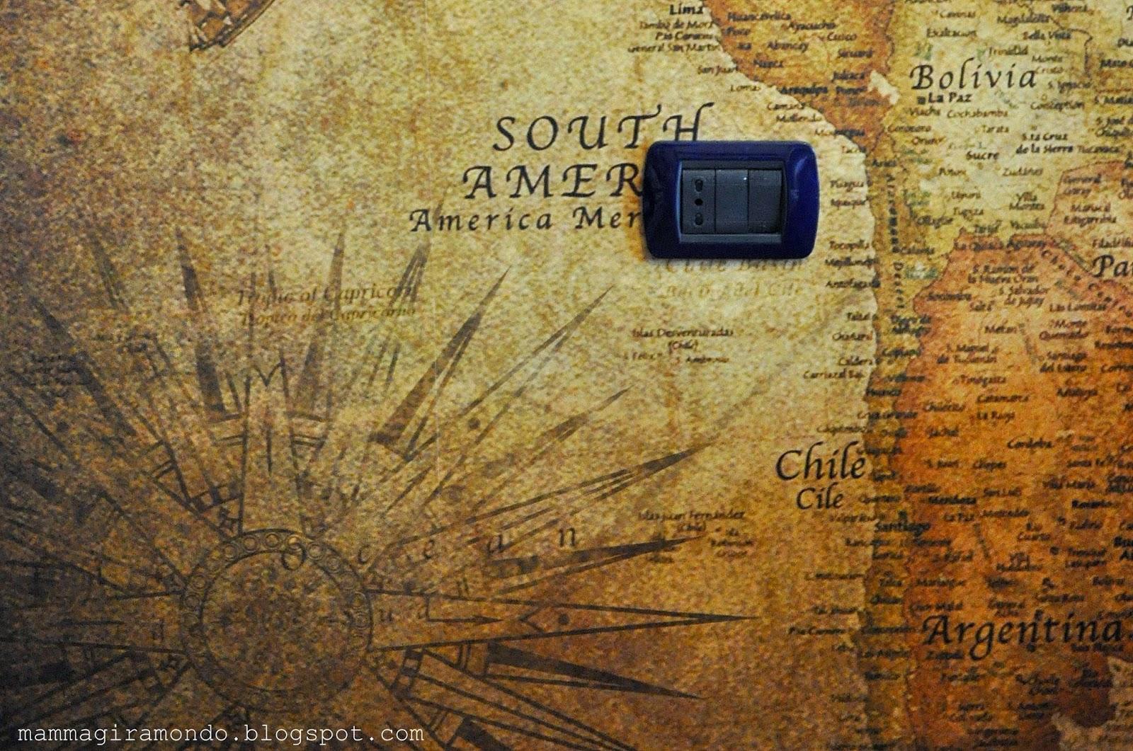 Travel decor carta da parati mappamondo for Carta parati mondo