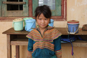A H'mong school girl in Simacai