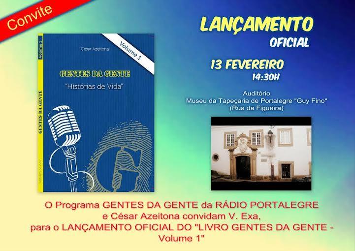 """PORTALEGRE: LANÇAMENTO DO LIVRO """"GENTES DA GENTE"""""""
