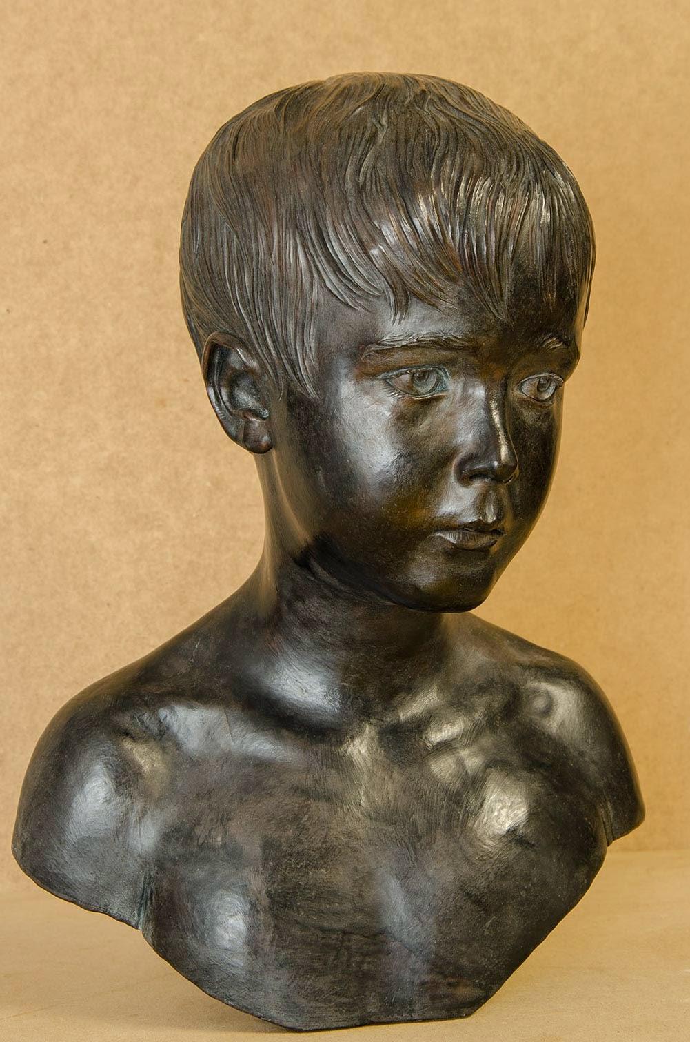 Retrato escultura barro cocido 8