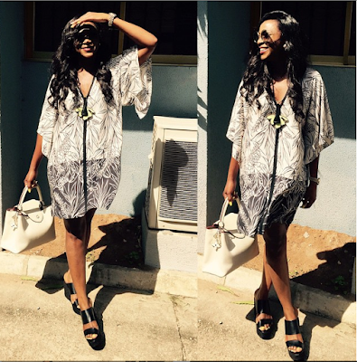 Genevieve Nnaji steps out looking stylish
