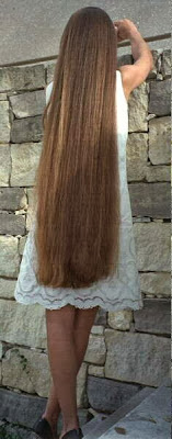 Alina very long hair The Long Hair Site