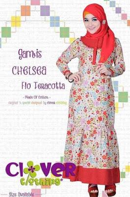 Baju muslim syar'i bahan katun untuk wanita image