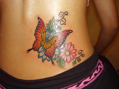 Fotos de Tatuagens Femininas de Borboletas