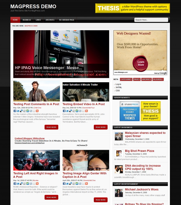 Investa WordPress Theme