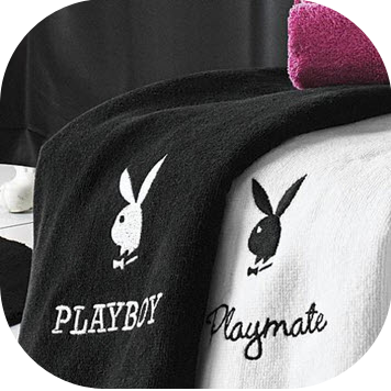 I think these are the cutest and I can t wait to get a place with my  boyfriend so I can buy these  Also because I love him  but mostly for these  towels. Vanilla Diamond  Playboy Girl