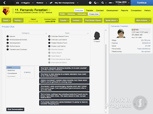 FM14 Recent form Player conversations