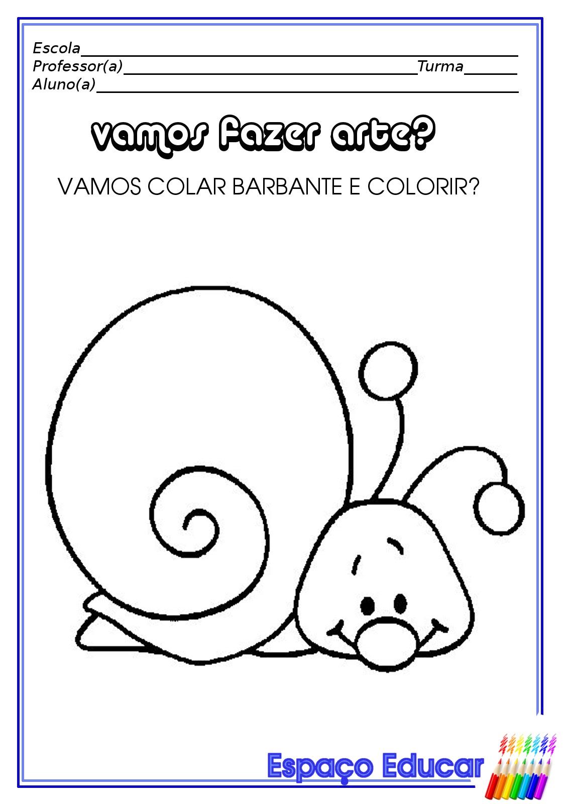 Well-known ESPAÇO EDUCAR: Atividades para Educação infantil: Artes! BP71
