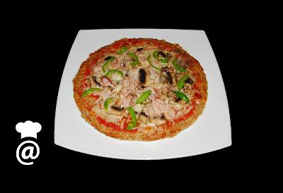 Recetas Dieta Dukan: Pizza de Salvado Avena y Pavo