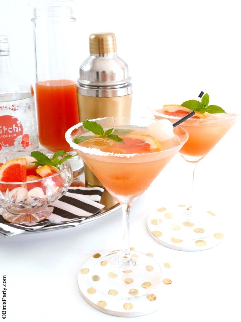 Le Birdie: Cocktail au liqueur de litchi et pamplemousse