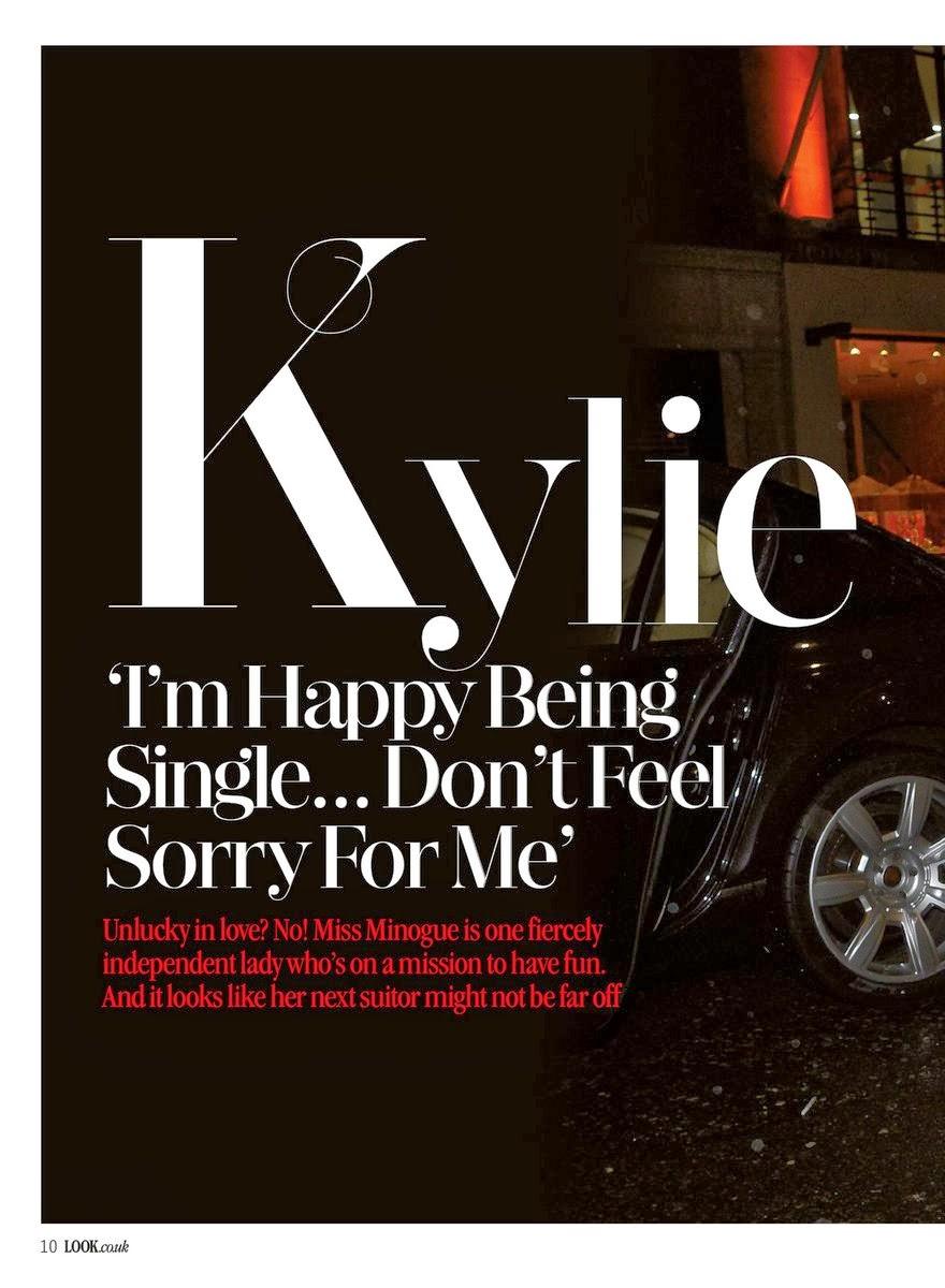 Magazine Photoshoot : Kylie Minogue Photoshot For Look Magazine UK January 2014 Issue