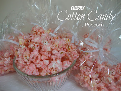 Chocolate, Chocolate & More: Cherry Cotton Candy Popcorn