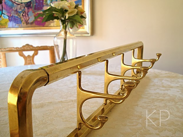 Kp tienda vintage online perchero pared de lat n con colgadores giratorios brass wall coat - Perchero de pared original ...