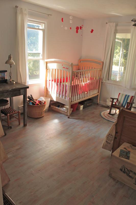 Vanhook co annie sloan 39 s chalk painted kids 39 room floor for Kids room flooring