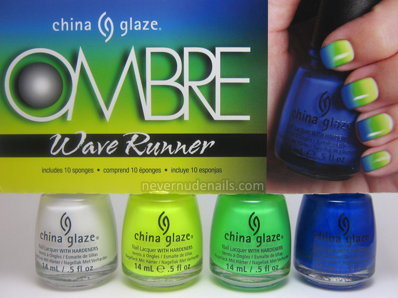 Never Nude Nails: China Glaze Wave Runner