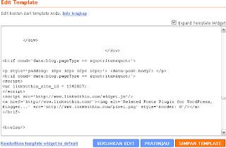 Cara memasang Script Linkwhitin Ditemplate