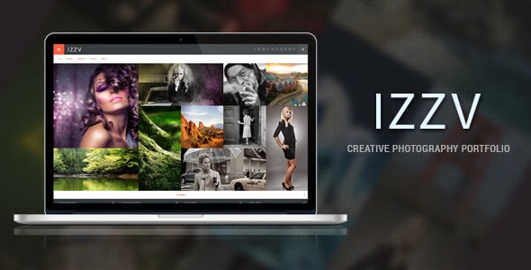 free photography website template