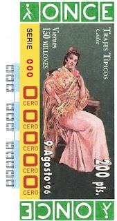 Traje típico de Cádiz - Mujer - Cupones ONCE 1996
