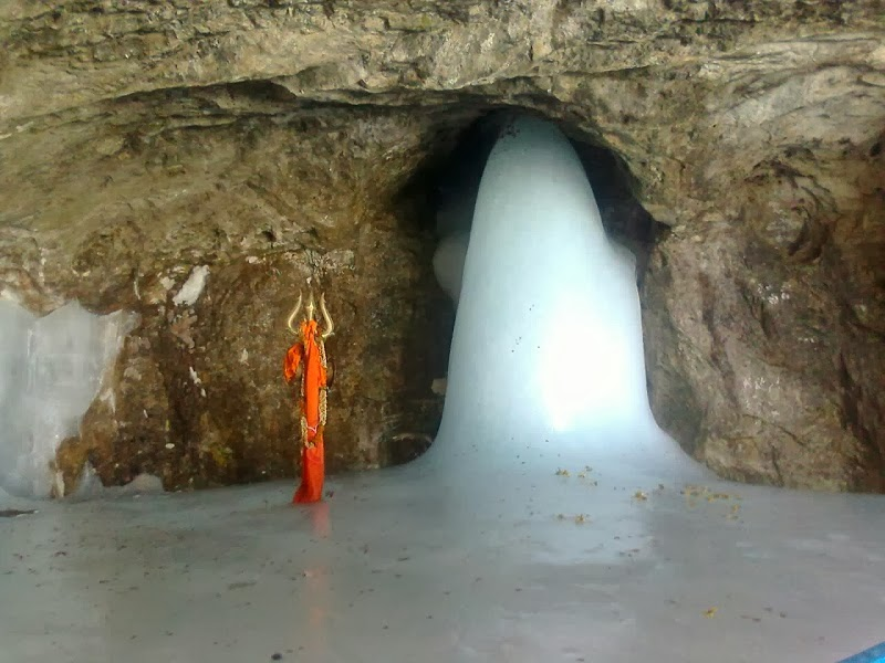 Lingam formation at Amarnath Cave