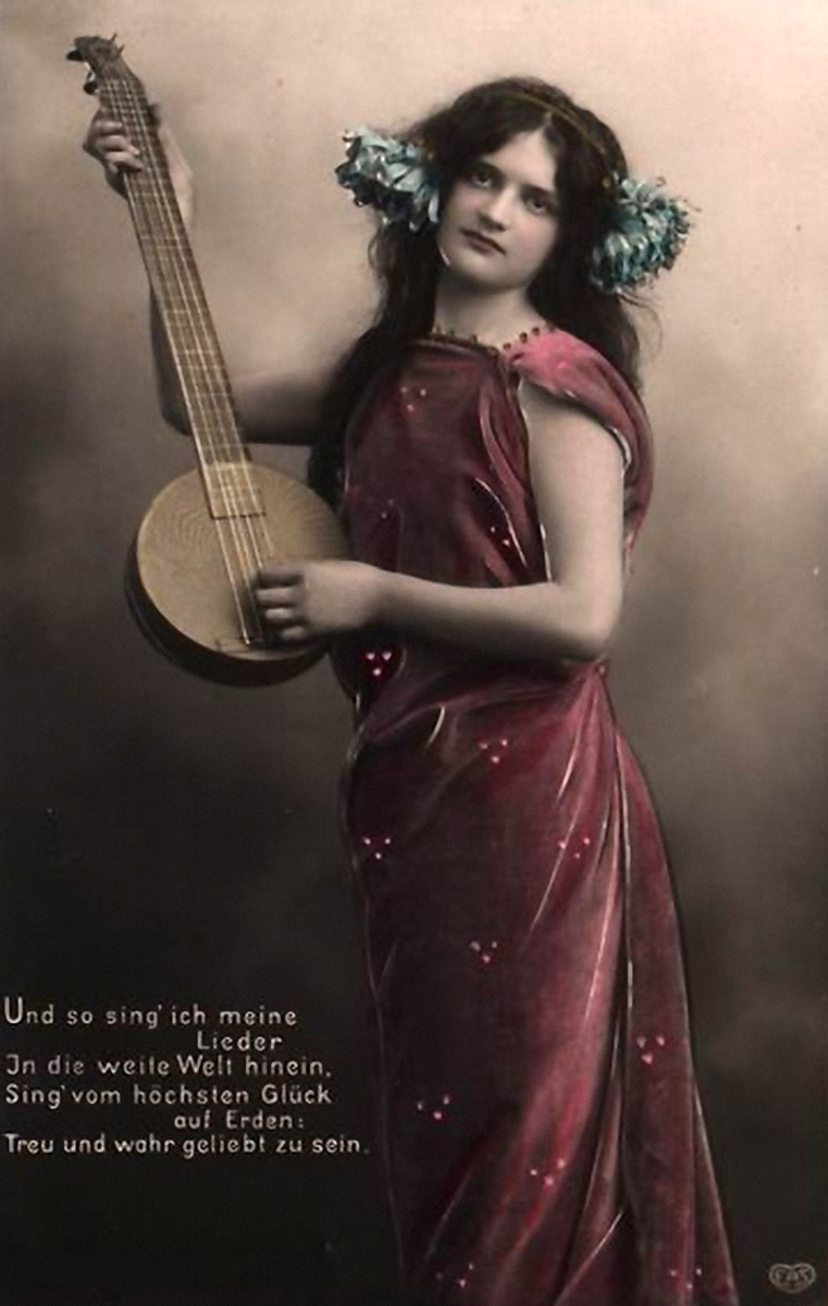 the girl with the mandolin